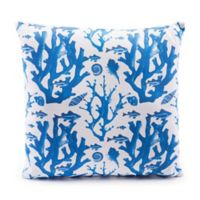 Zuo® Modern Reef Throw Pillow in Blue/White