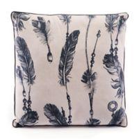 Zuo® Modern Western Throw Pillow in Black/Beige