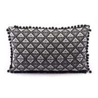 Zuo® Modern Triangles Throw Pillow in Black/White