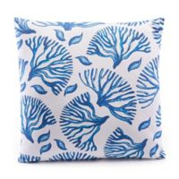 Zuo® Modern Coral Throw Pillow in Blue/White
