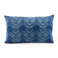 Zuo® Modern Ikat Throw Pillow in Blue/Natural