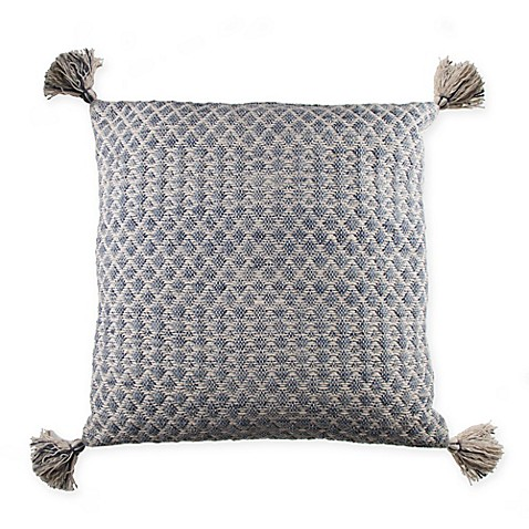 image of Textured Tassel Square Throw Pillow