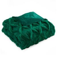 Chic Home Hassan Faux Fur Throw in Green