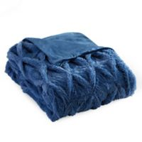 Chic Home Hassan Faux Fur Throw in Blue