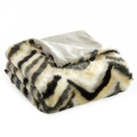 Chic Home Janina Faux Fur Throw in Black