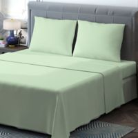 Brielle 400-Thread-Count Sateen King Sheet Set in Sage