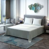 Brielle 400-Thread-Count Sateen Twin/Twin XL Sheet Set in White