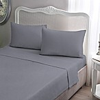 Brielle Jersey Knit Cotton Queen Sheet Set in Grey