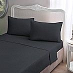 Brielle Jersey Knit Cotton Queen Sheet Set in Pewter