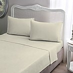 Brielle Jersey Knit Cotton Queen Sheet Set in Ivory