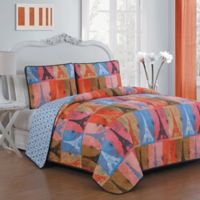 Avondale Manor Cannes Reversible Queen Quilt Set