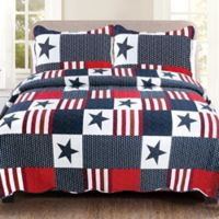 Americana King Quilt Set in Red/White