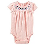 OshKosh B'gosh® Size 0-3M Embroidered Bodysuit in Berry/Cream