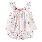 OshKosh B'gosh® Size 0-3M 2-Piece Floral Top and Bloomer Set in White