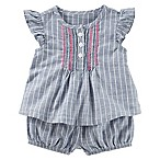 OshKosh B'gosh® Size 0-3M 2-Piece Striped Sun Short Set