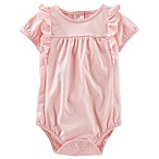 OshKosh B'gosh® Size 6M Ruffled Jersey Bodysuit in Pink