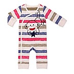 Baby Starters® Size 3M Striped Snap-Up Sock Monkey Coverall