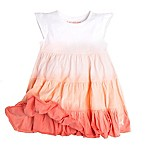 Burt's Bees Baby® Size 2T Organic Cotton Tri Dip Dye Tiered Dress in Pink