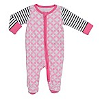 Boppy® Newborn Damask Front-Zip Footie in Pink