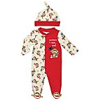 Baby Starters® Size 3M 2-Piece Sock Monkey Footie and Hat Set in Red