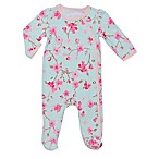Baby Starters® Size 3M Spring Blossom Footie in Aqua