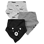 carter's® 3-Pack Assorted Bandana Bibs in Black/White/Grey