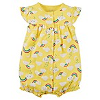 carter's® Size 9M Rainbow Print Romper in Yellow