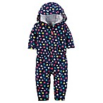 carters® Size 3M Heart Print Hooded Romper in Navy