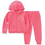 "Juicy Couture® Size 18M 2-Piece ""Juicy"" Back Bling Hoodie and Jogger Pant Set"