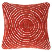 Nottingham Home Geometric Circles Square Throw Pillow in Red