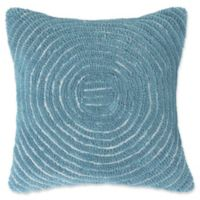Nottingham Home Geometric Circles Square Throw Pillow in Blue