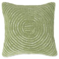 Nottingham Home Geometric Circles Square Throw Pillow in Green