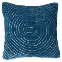 Nottingham Home Geometric Circles Square Throw Pillow in Navy
