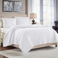 Croscill® Crestwood Reversible Full/Queen Quilt in White