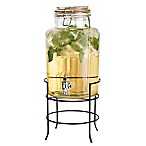 Home Essentials & Beyond Bail-and-Trigger Glass Beverage Dispenser