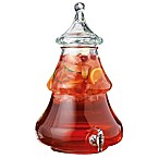 Home Essentials & Beyond Christmas Tree Glass Beverage Dispenser