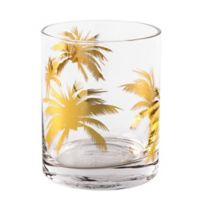 Home Essentials & Beyond Gold Palm Double Old Fashioned Glasses (Set of 4)