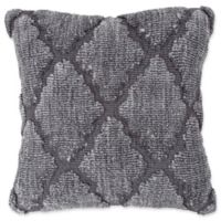 Nottingham Home Geo Trellis Square Throw Pillow in Grey