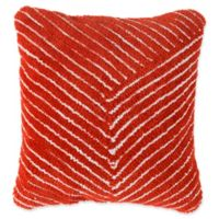 Nottingham Home Geo Stripe Square Throw Pillow in Clay Red