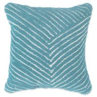 Nottingham Home Geo Stripe Square Throw Pillow in Dreamy Blue