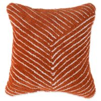 Nottingham Home Geo Stripe Square Throw Pillow in Burnt Orange