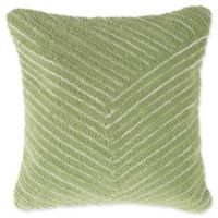 Nottingham Home Geo Stripe Square Throw Pillow in Leaf Green