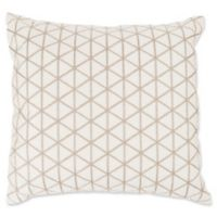 Nottingham Home Geo Triangle Square Throw Pillow in Ivory/Beige