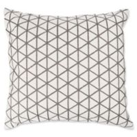 Nottingham Home Geo Triangle Square Throw Pillow in Ivory/Taupe
