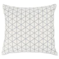 Nottingham Home Geo Triangle Square Throw Pillow in Silver/Grey