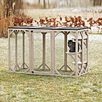 TRIXIE Natura Wooden Outdoor Cat Retreat in Grey