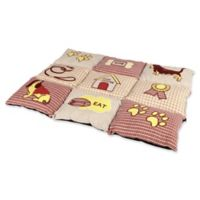 TRIXIE Quilted Polyester Medium Pet Bed in Red/Beige