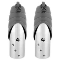Iconic Pet Water Bowl Travel Bottles in Grey (Set of 3)