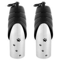 Iconic Pet Water Bowl Travel Bottles in Black (Set of 3)