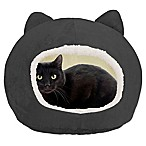 Cat Ear Dome Pet Bed in Grey